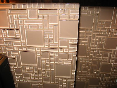 Close up of mosaic glass tile backsplash in a kitchen remodel