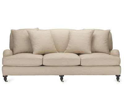 Sofa on wheels from William Sonoma Home
