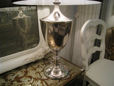 Polished metal urn lamp from Pom Pom Interiors