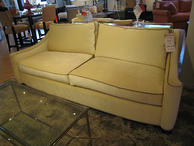 Cream Colored Sofa With Piping At HD Buttercup