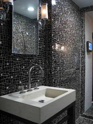 Black Glass Tiles In addition to the attractiveness of the tiles
