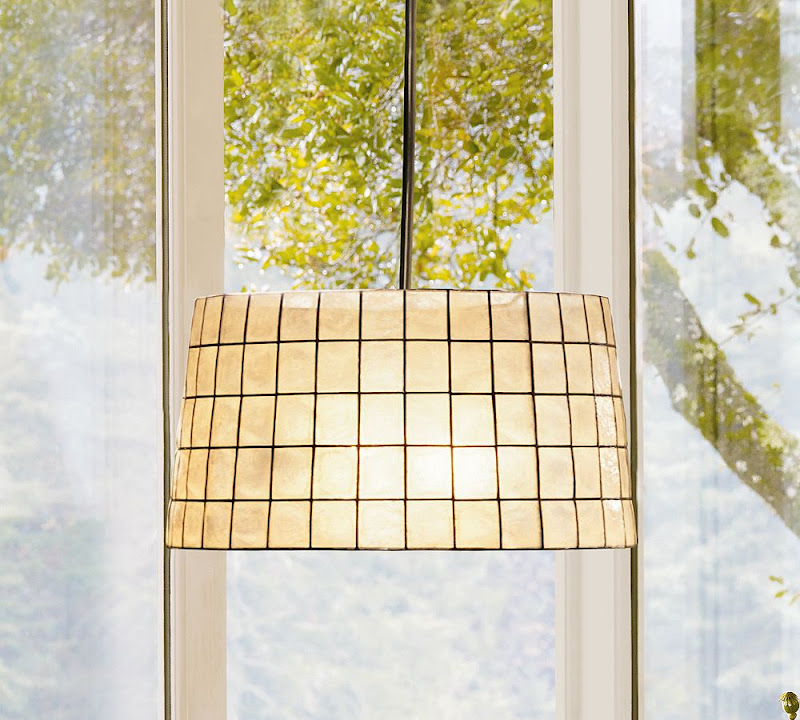 Capiz pendant light from Pottery Barn