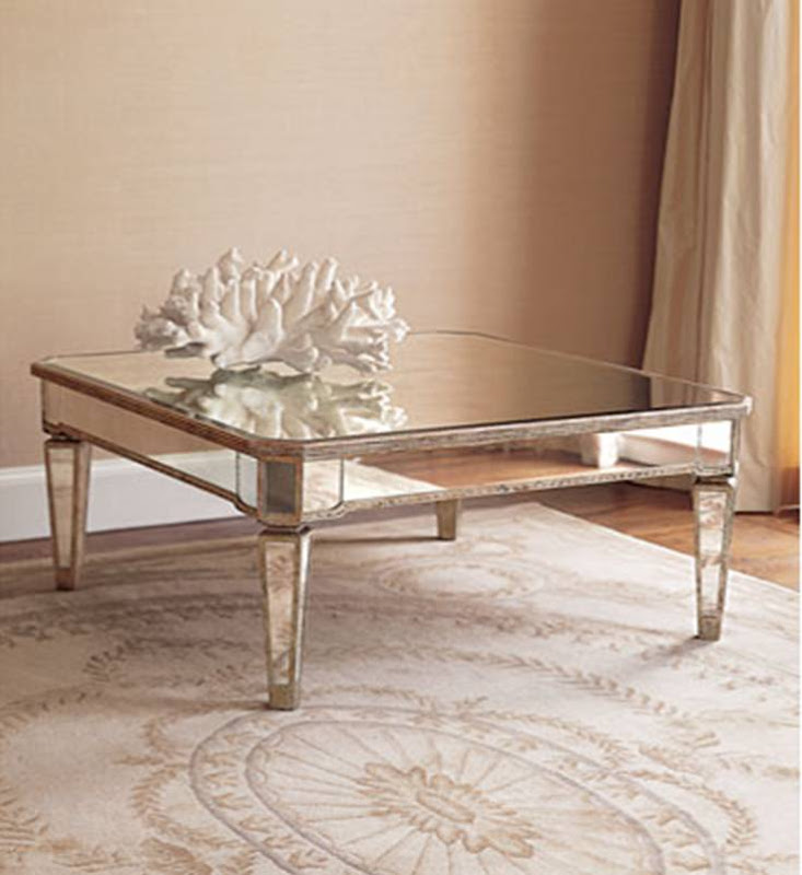 Design on sale daily reflections on a mirrored cocktail for Amazing mirrored coffee table