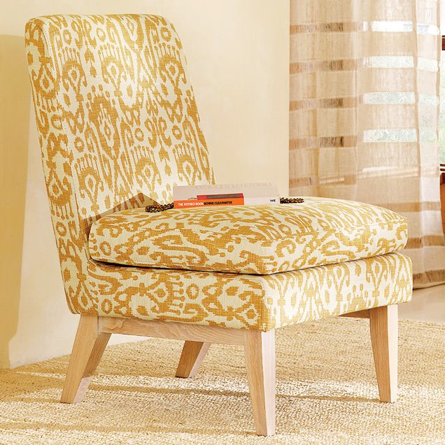 Yellow accent chair living room ideas for West elm yellow chair