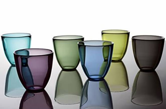 Six sustainable glass tumblers from Crate & Barrel