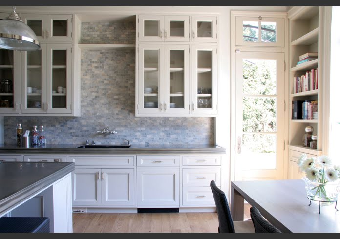 Off White Kitchen Marble Mosaic Backsplash