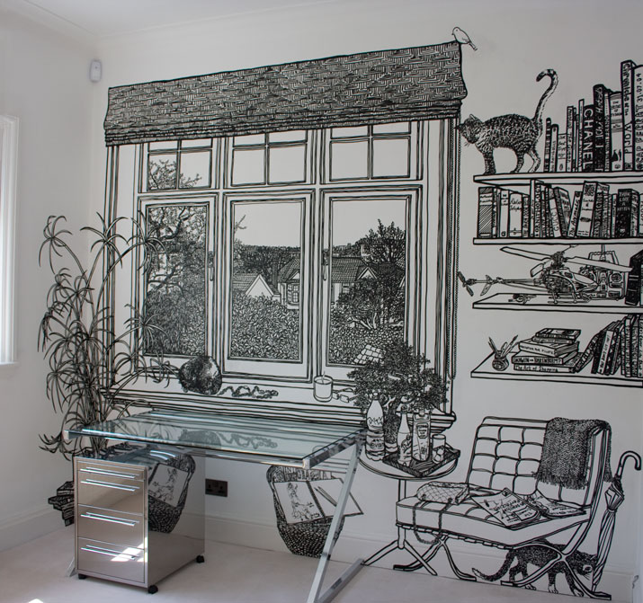 Cococozy 6 reasons i am liking the work of u k artist for Mural room white house