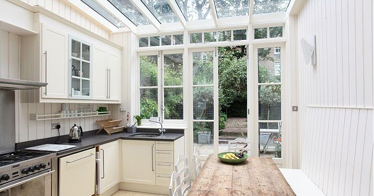 A fab glass enclosed kitchen in a london home nbaynadamas furniture and interior - Houses attic enclosed kitchen ...