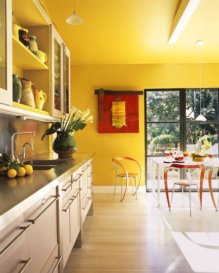 Yellow Kitchen Walls Fascinating Of Yellow Kitchen Wall Colors Pictures