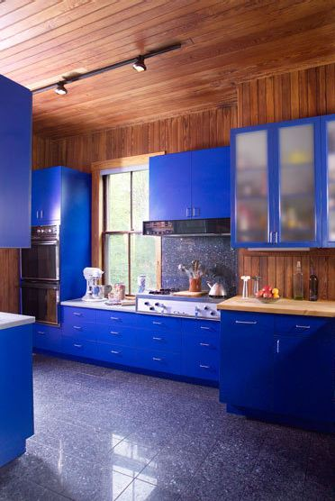 Metallic Cobalt Blue Kitchen Cabinets Thinking Of