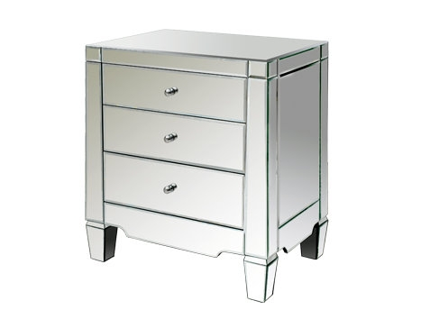 3 drawer mirrored side table or nightstand from Tonic Home