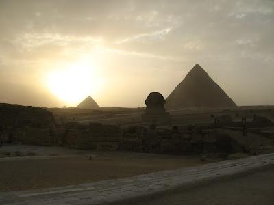 Solnedgång över Giza