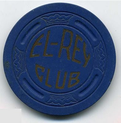 1946 Navy Blue $5 El Rey Chip