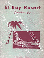 El Rey Resort Menu, Circa 1950's - 1962