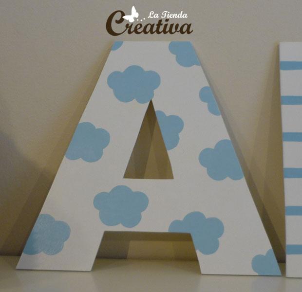 Como pintar letras de madera imagui - Como decorar letras de madera ...
