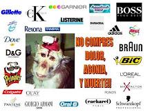 boicot a empresas que experimentan con animales. ¡LIBERACION ANIMAL! ¡YA!