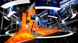 На фото: Сцена Евровидения в СК Олимпийский