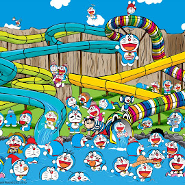 wallpaper doraemon lucu