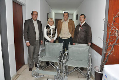 Lusal alumbrado de la ciudad de salta donaci n de for Sillas para hospital