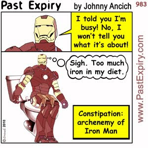 [CARTOON] Iron Man.  images, pictures, cartoon, diarrhea, diet, health, pain, superhero