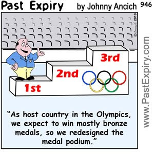[CARTOON] Olympic Medal Podium , images, pictures, image, picture, cartoon, sports, olympics, winter, summer