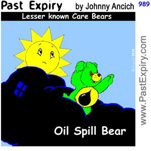 [CARTOON] Lesser known Care Bears.  images, pictures, animals, cartoon, environment, kids, pollution, oil, spoof, tragedy,