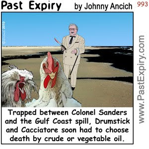 [CARTOON] Chicken Crisis.  images, pictures, animals, cartoon, environment, feul, food, pollution, tragedy