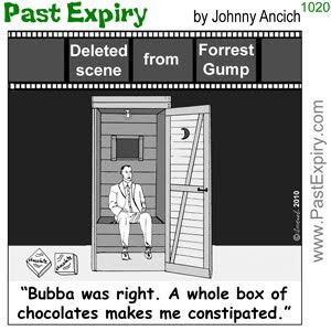 [CARTOON] Forrest Gump Deleted Scene.  images, pictures, celebrity, cartoon, diarrhea, entertainment, movie, pain, spoof,