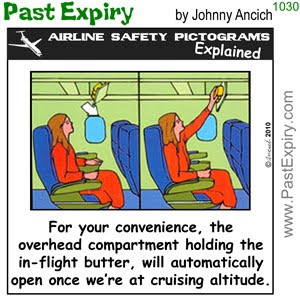 [CARTOON] The secret behind Airline Butter.  images, pictures, airlines, cartoon, food, pictogram, vacation