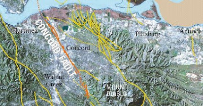 EARTHQUAKE Info The Concord Fault The ClaytonMarsh Creek Fault - Hayward fault line map