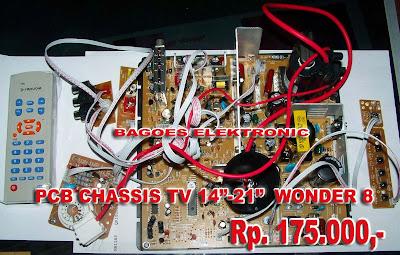 """Pcb Chassis Tv 14"""" - 21"""" WONDER 8 ('NAIK' Rp.175.000,-)"""