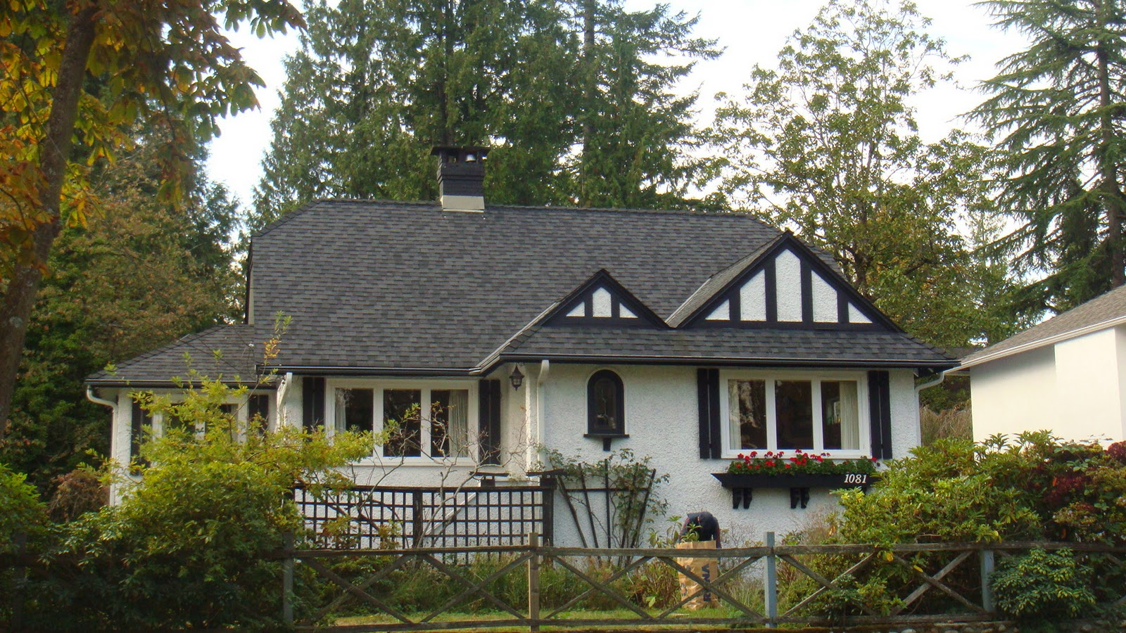 Pure mix tudor style houses Tudor style fence