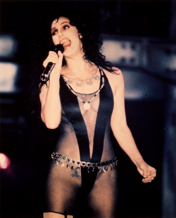 cher in black leather