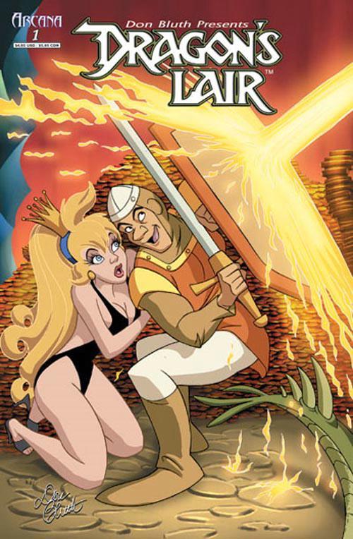 Pop culture shop dragon 39 s lair 1 comic book don bluth for Dragon s lair