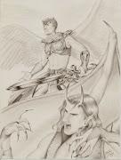 Dibujos a lápiz de famosos 1 img