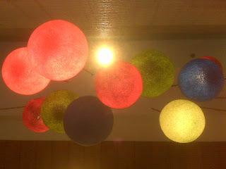 hanging decorative balls of light