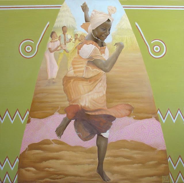 african dance oilpainting by fora