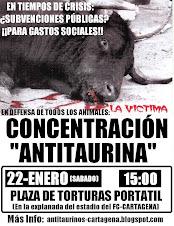 Concentración Antitaurina En Cartagena (22-1-2011)