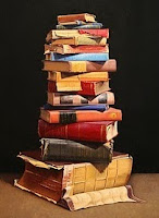 Used and Discarded Books a series of painting copyrighted by Ephraim Rubenstein