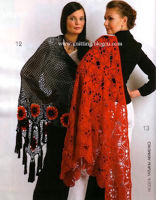 Crochet Flower Shawls