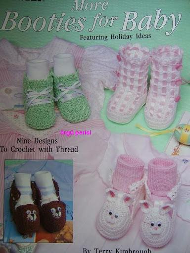 Değişik Bebek Patikleri & Holiday Baby Bootie Crochet Patterns