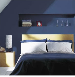 fantastic blue bedroom design
