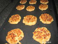 Salmon Cakes in my Griddle