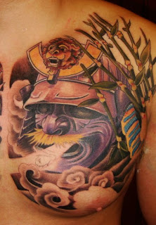 Ghost samurai Mask Tattoo