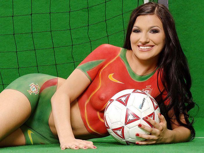 Women Soccer World Cup Body Paint