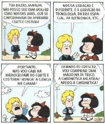 HQ: Mafalda e a máquina (Quino)