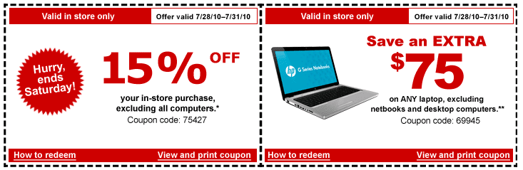 Staples coupons laptops