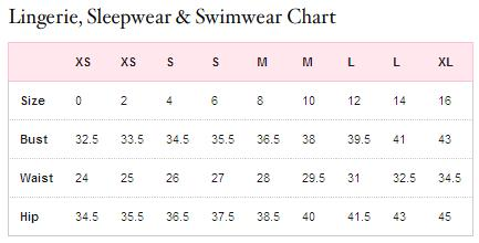 Victoria secret sweatpants size chart victoria secret bathing