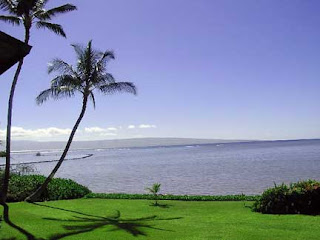 Peaceful beach setting on Molokai