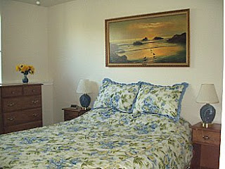 Sequim  Vacation Rental, Bedroom with Select Comfort Queen Bed